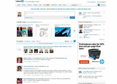 Linkedin's Old Homepage