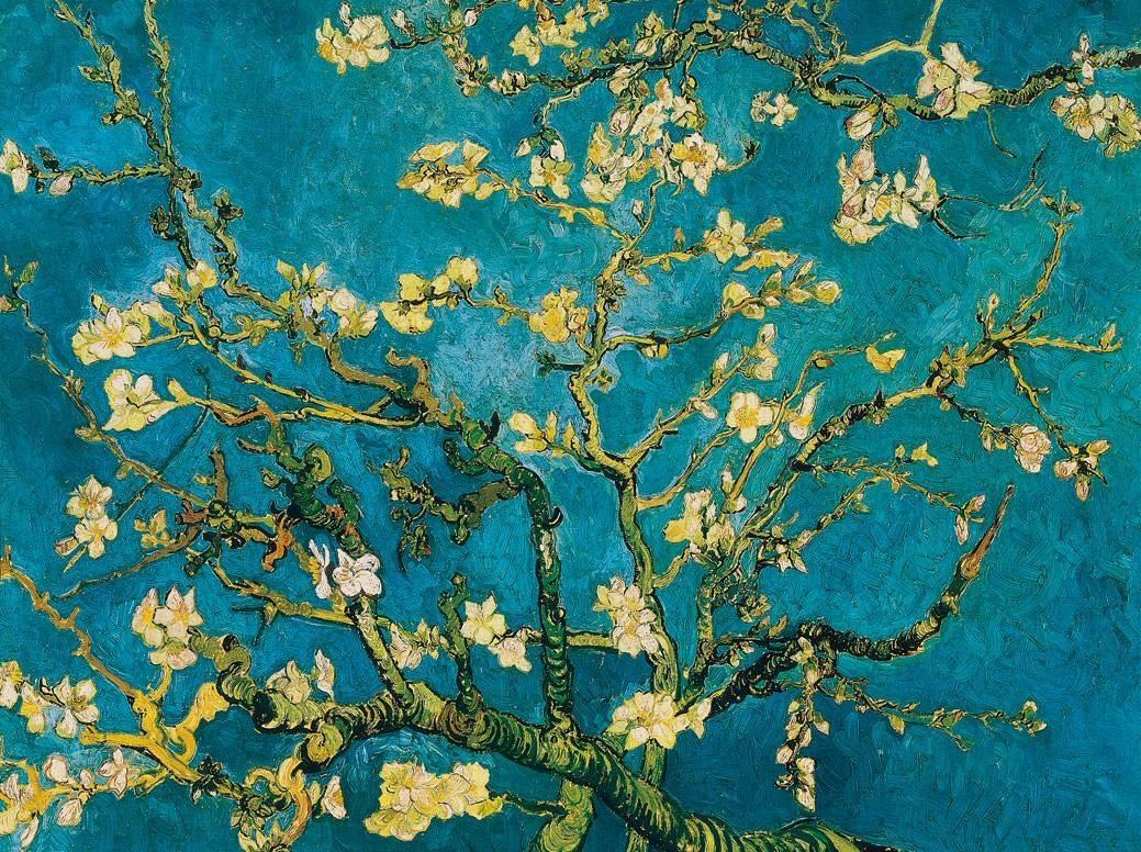 almond blossom, vincent van gogh, van gogh, almond blossom van gogh,