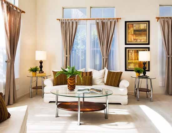 tips memilih desain gorden untuk ruang tamu | minimalist