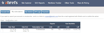 ahrefs.com professional account demo screenshot