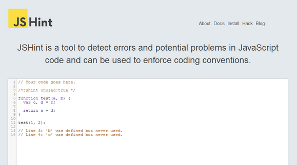 Detect Errors and Potential Problems in JavaScript