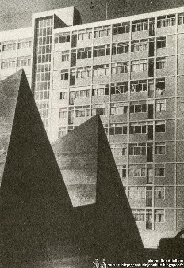 Bagneux - Chaufferie Cité des Tertres  Architecte: André Gomis, Guillaume Gillet  Ingénieur: Vladimir Bodiansky  Construction: 1955 - 1959