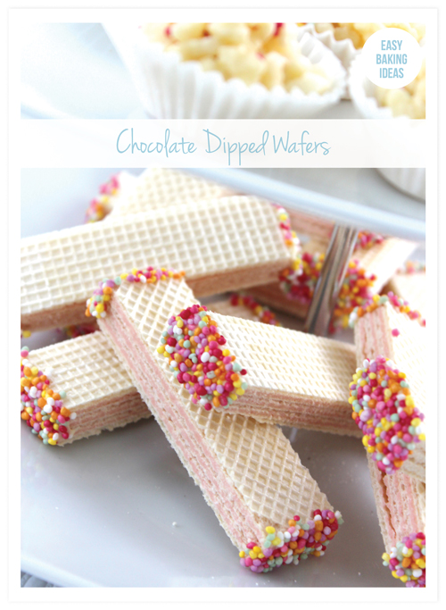 Chocolate Dipped Wafers: Last Minute Sprinkles Party Part Four