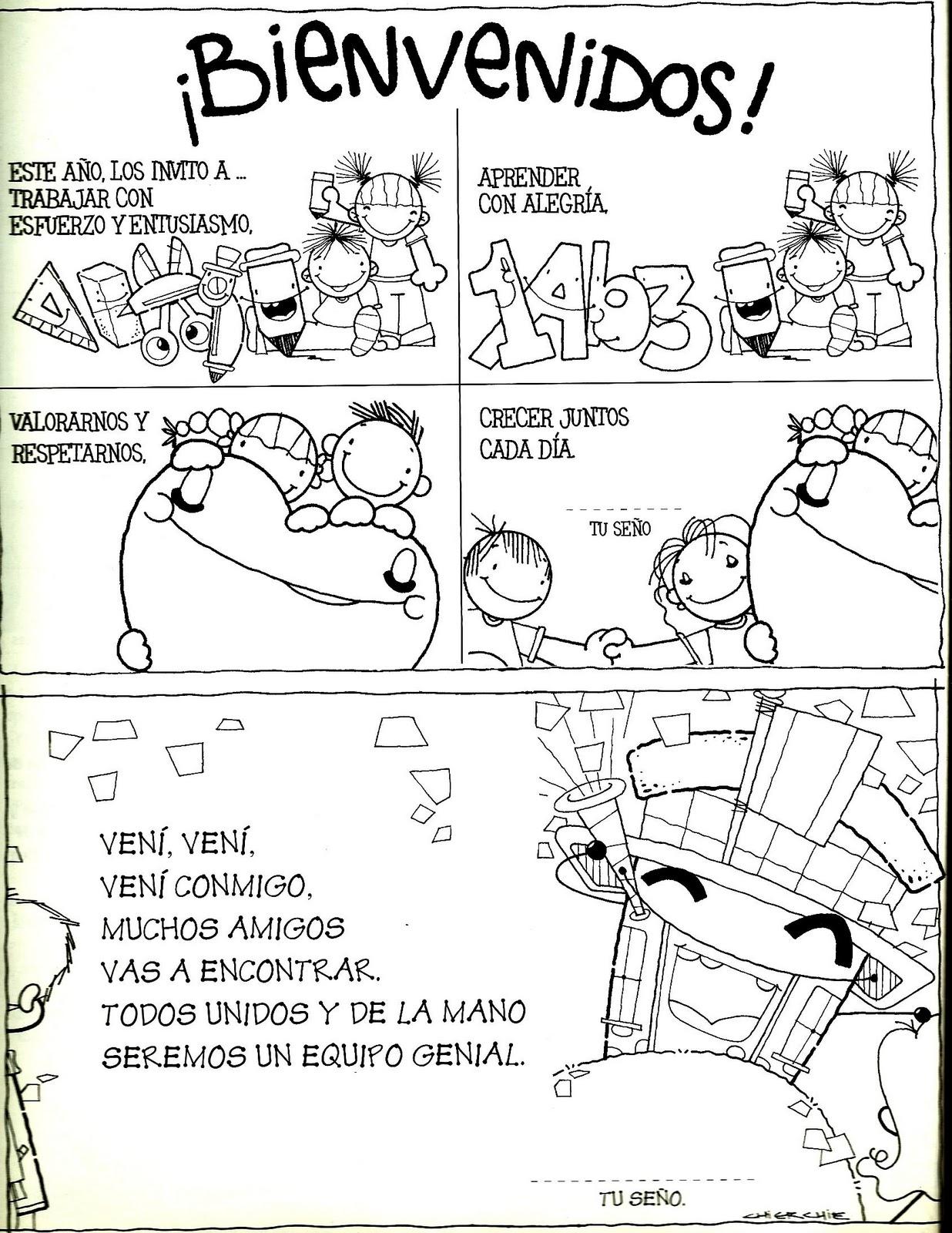 Tallita y las clases de religión: Ficha de bienvenida...