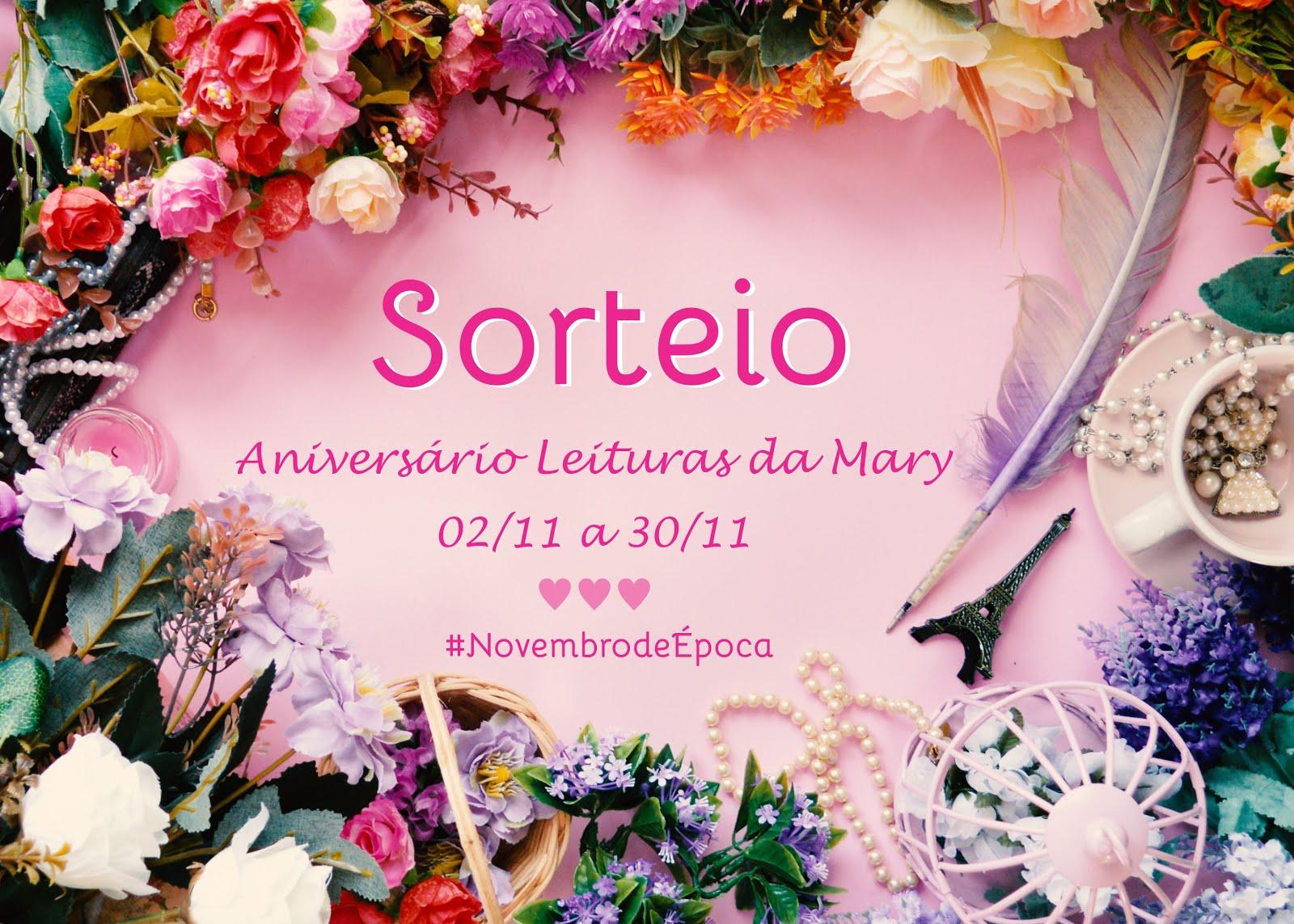 [SORTEIO] Aniversário Leituras da Mary