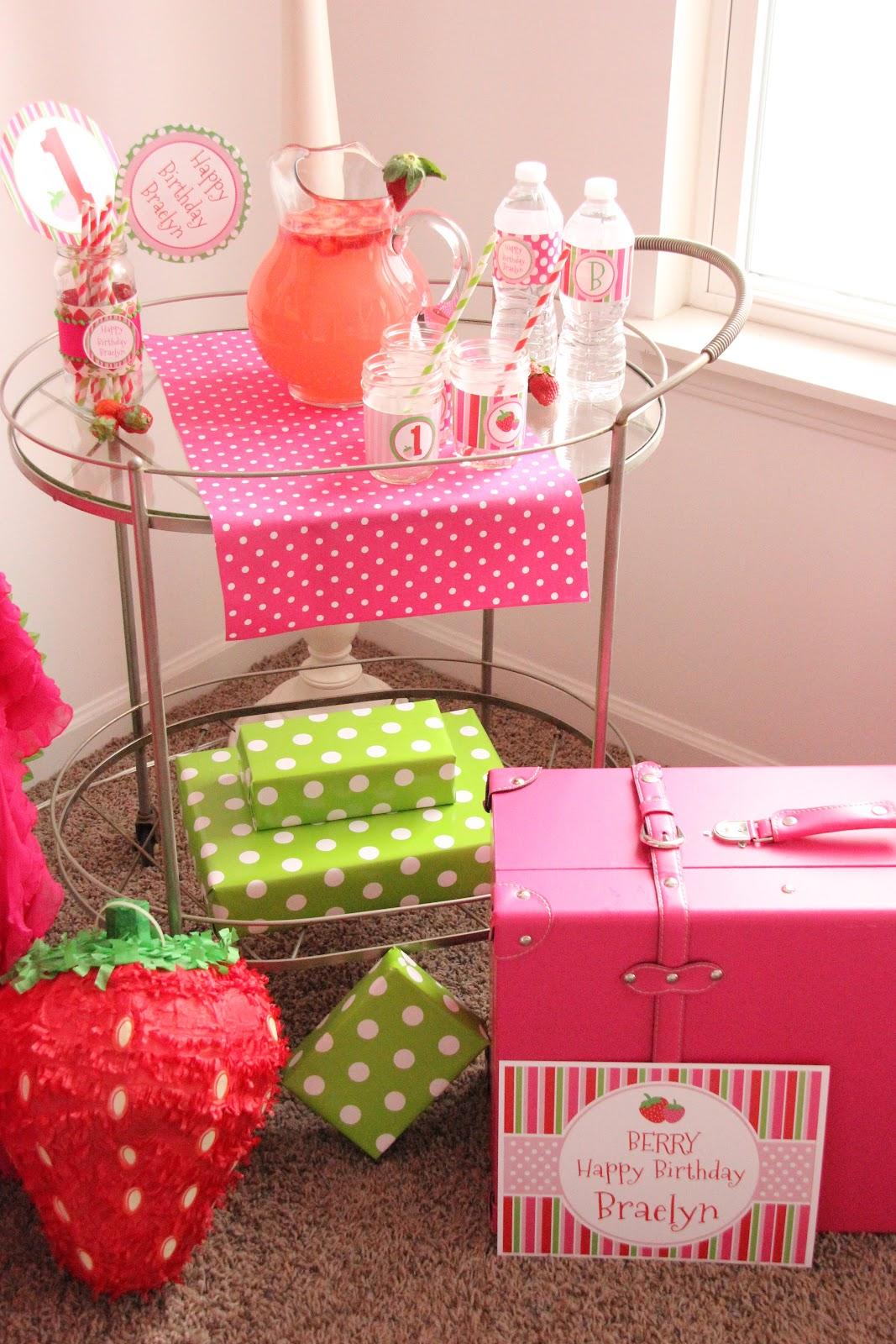 strawberry birthday theme