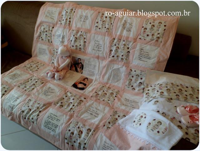 Quilt de Boas Vindas para bebê em patchwork