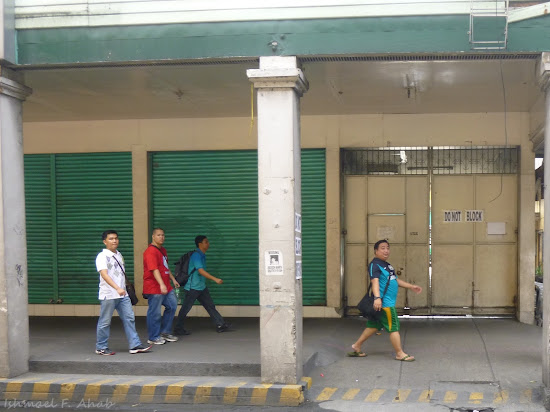 Members of Filipinos for Life walking along Rizal Avenue