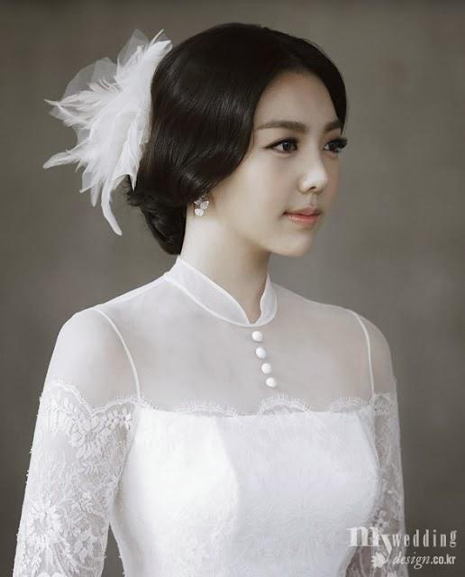 Những kiểu tóc cô dâu đẹp kiểu Hàn Quốc