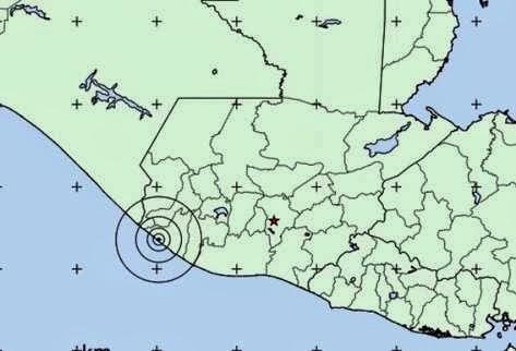 sismo de 5.7 grados en la escala de Richter sacudió este sábado la región oeste y zona central de Guatemala, 11 de Enero 2014