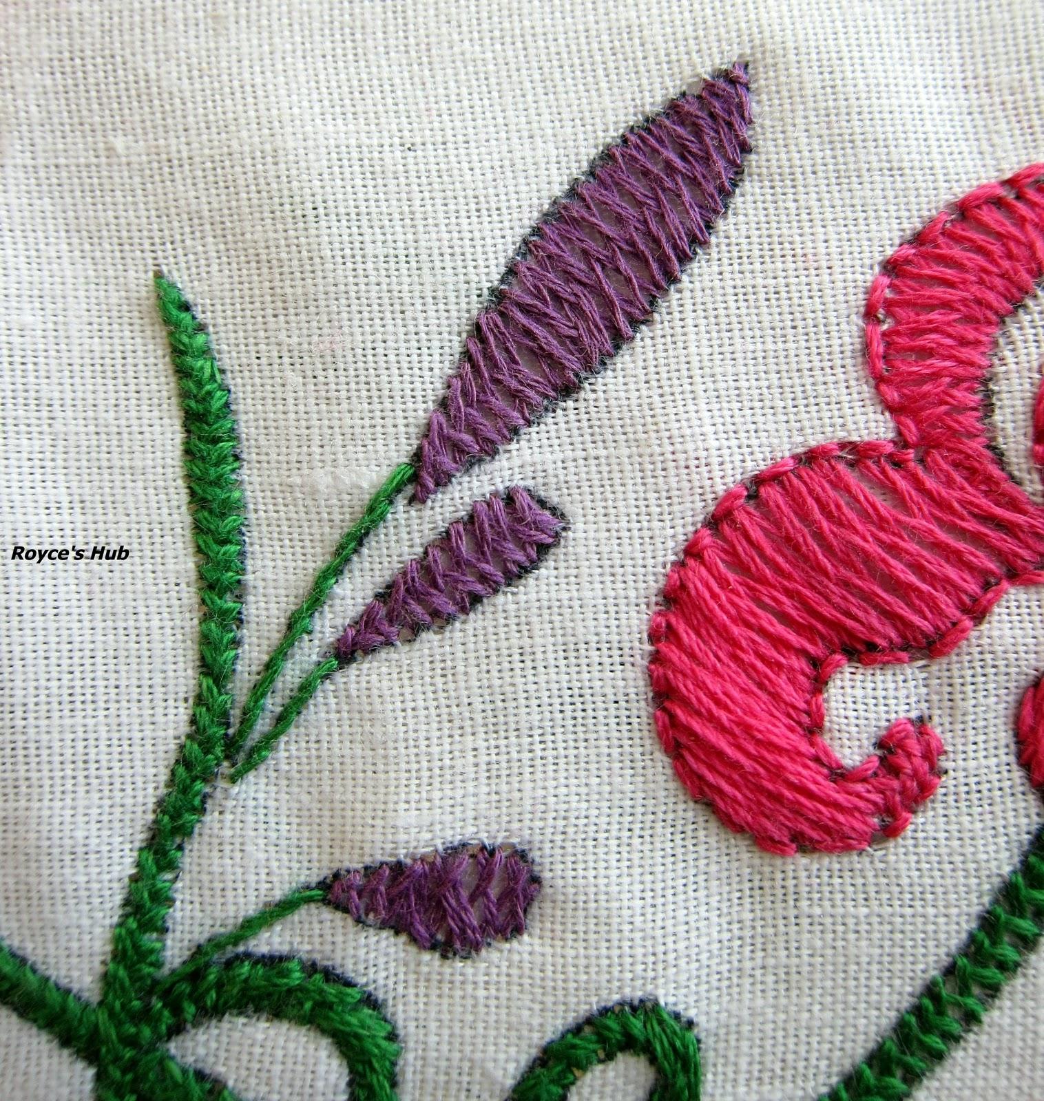 Royce s hub basic embroidery stitches herringbone stitch