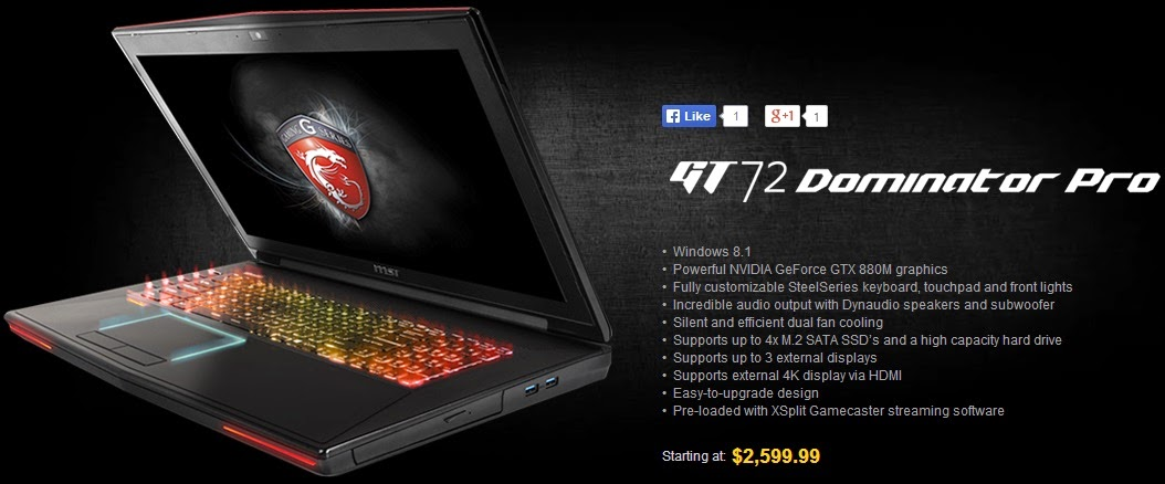 MSI GT72 Dominator Pro Laptop Gaming Dahsyat