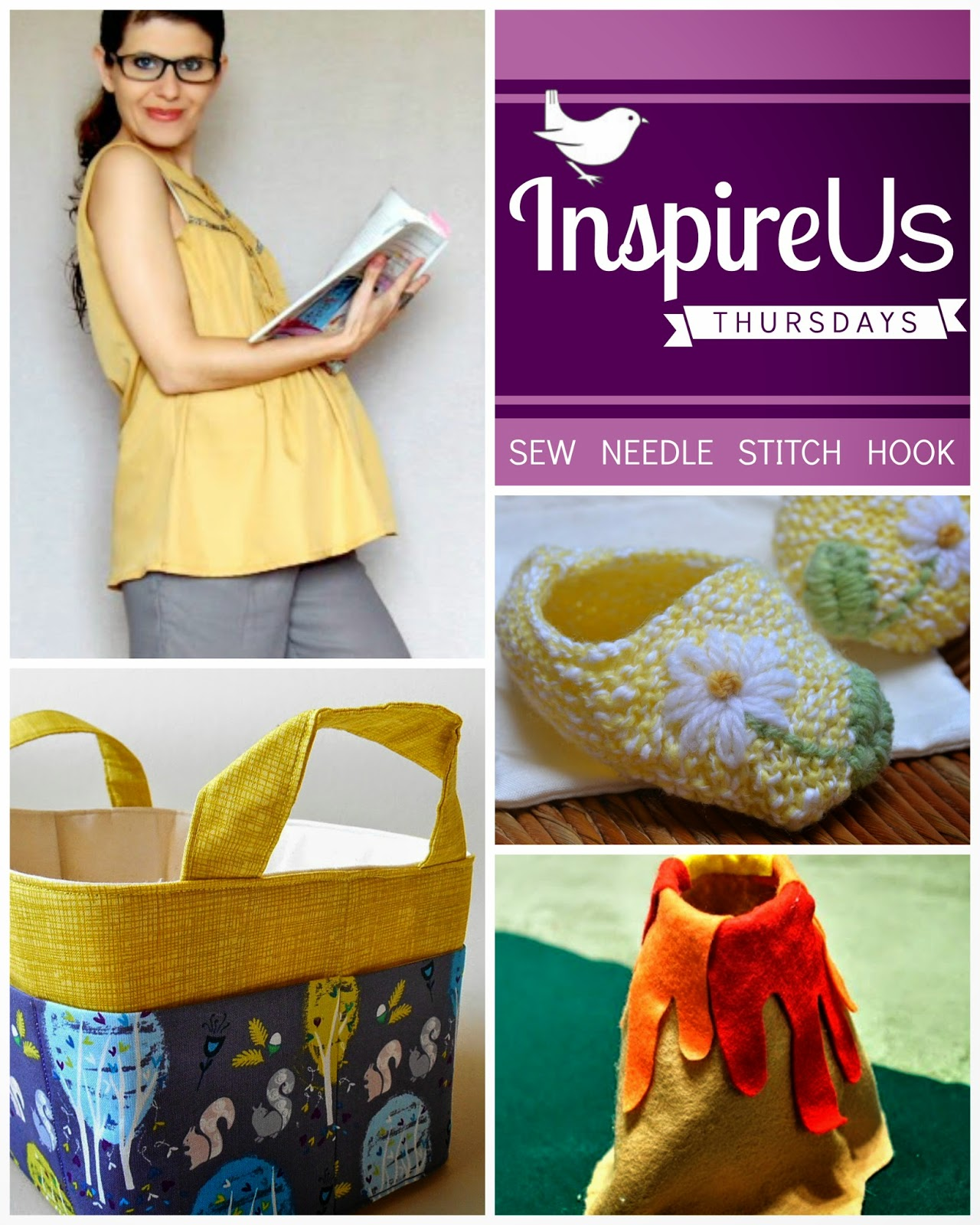 Inspired Us Thursdays: Sew Needle Stitch Hook, a weekly link party of fiber arts. | The Inspired Wren