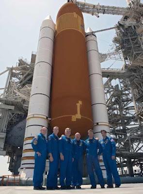 Space shuttle Endeavour crew