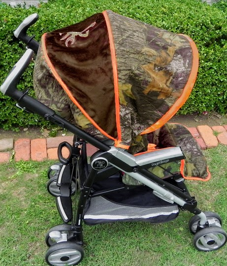 Small Sprouts Camo Baby Mossy Oak Breakup Stroller Cover With Buck Brown Monogram