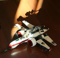 Lego airplane - his own design