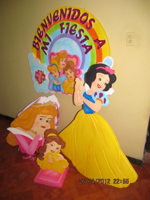 Decoracion fiesta de princesas disney figuras en icopor - Decoracion fiesta princesas disney ...