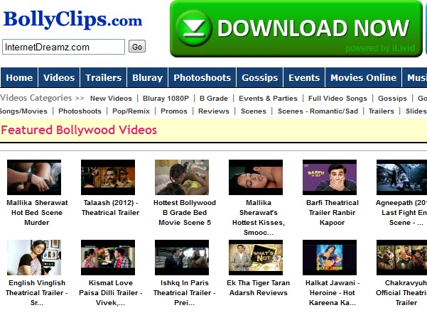 watch bollywood movie clips online