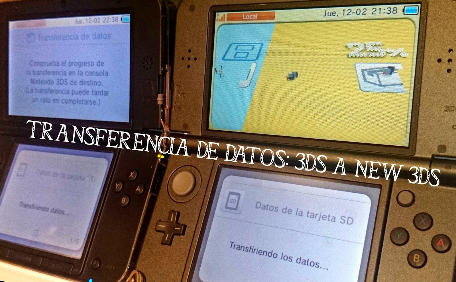 transferir datos de 3ds a new 3ds