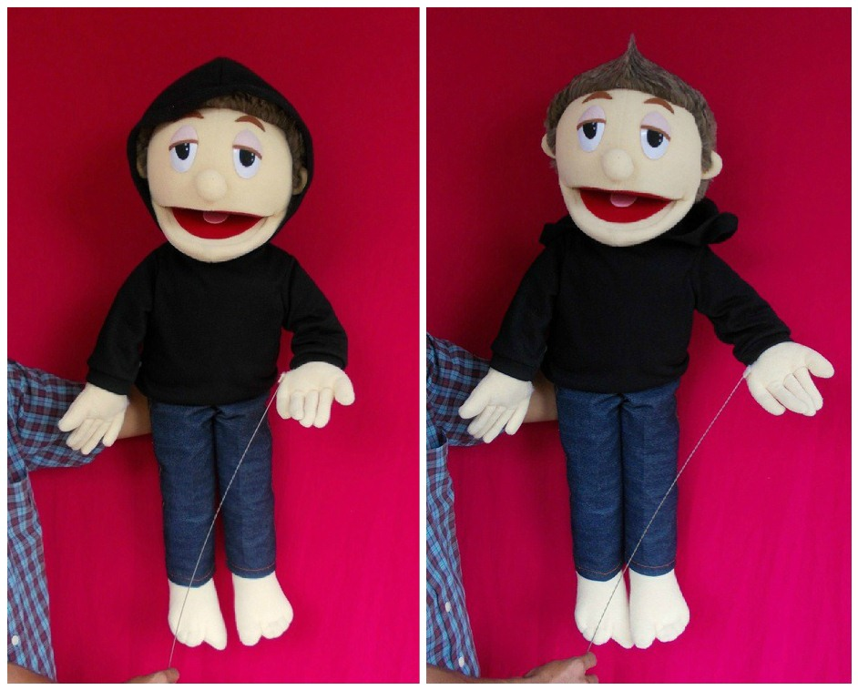 how to make a puppet mouth