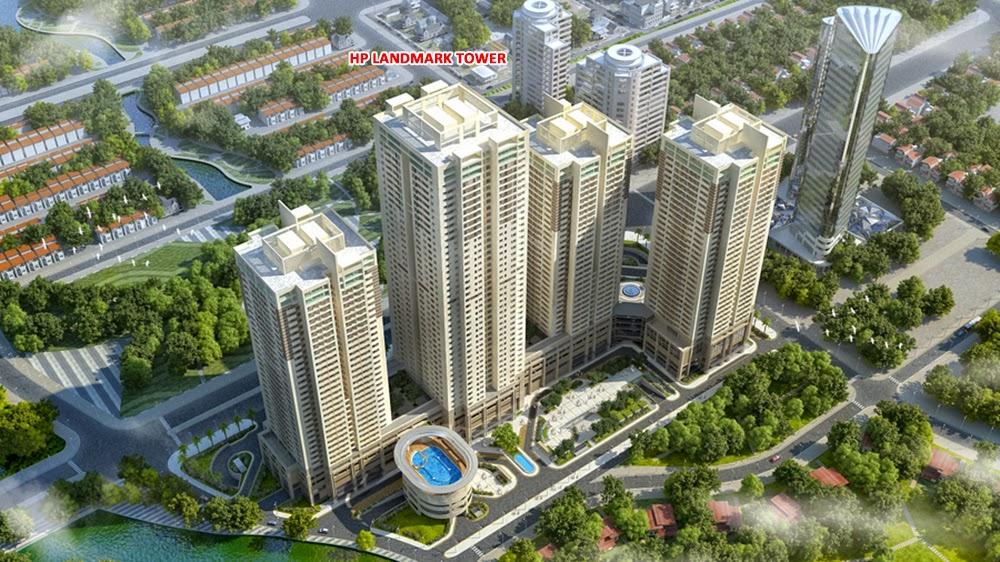 Phối cảnh tổng thể dự án chung cư HP Landmark Tower