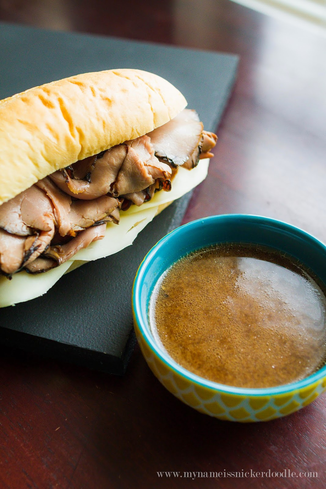 Make the best and easiest French Dip Sandwiches at home that you prepared in the slow cooker!  |  mynameissnickerdoodle.com