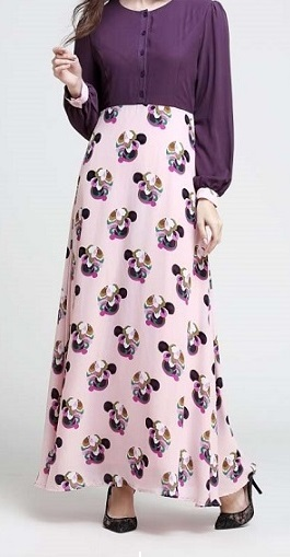 NBH0456 ILHAM MAXI DRESS (NURSING FRIENDLY)
