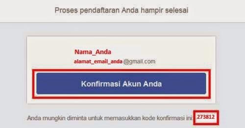 Cara Membuat Facebook Konfirmasi Akun Facebook Dari Email