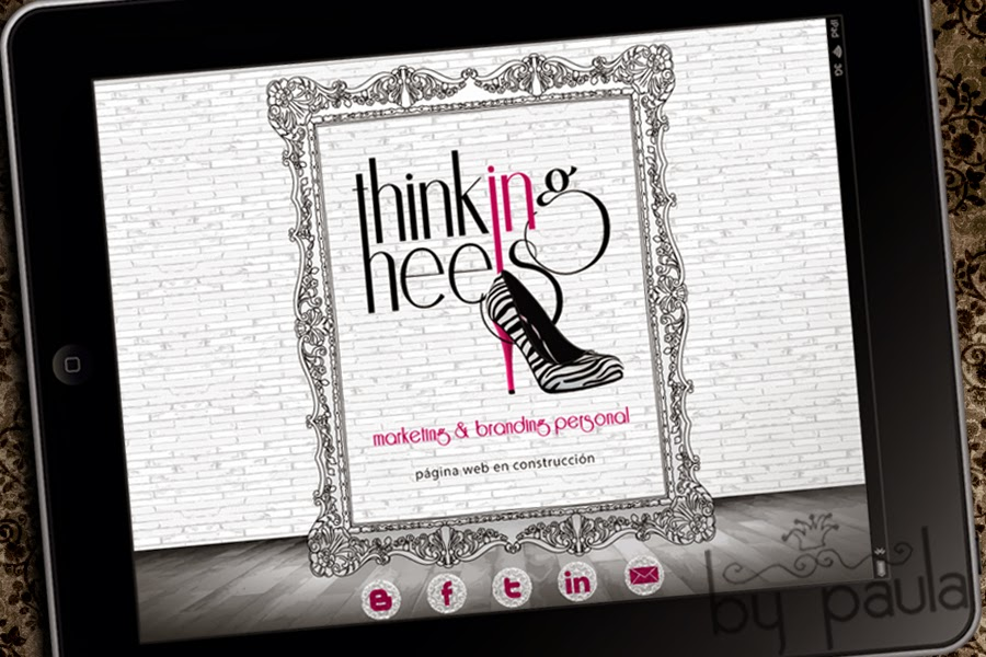 landing page thinking in heels, by paula