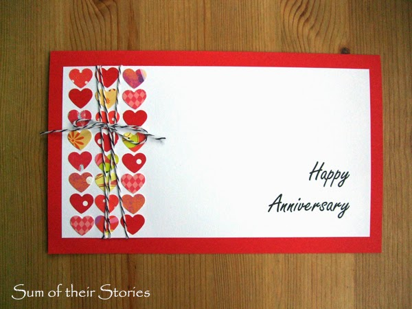 handmade anniversary card idea