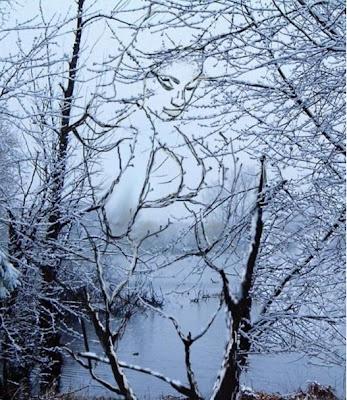 Hidden Snow Girl Illusion