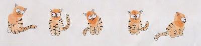 cara menggambar kucing dengan sidik jari