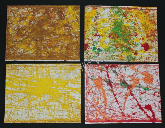 Acorn Roll Paintings fall kids art