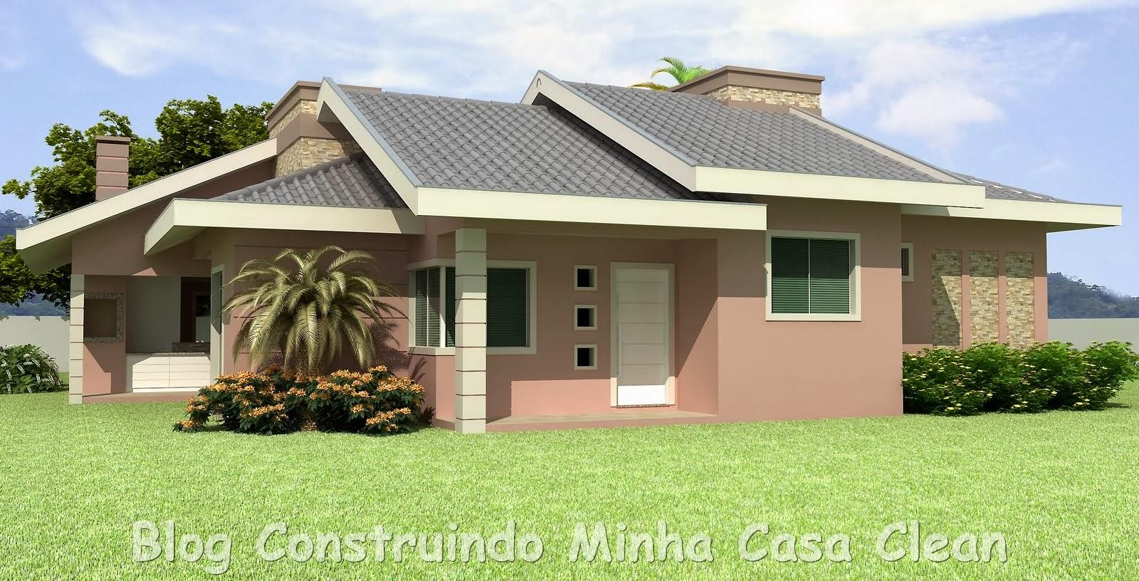 Construindo minha casa clean tintas e cores para pintura for Cores modernas para fachadas de casas 2016