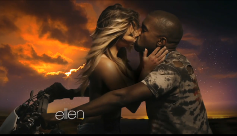 Kanye West and Kim Kardashian in 'Bound 2' Music Video