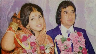 Dimple Kapadia with her husband Rajesh Khanna