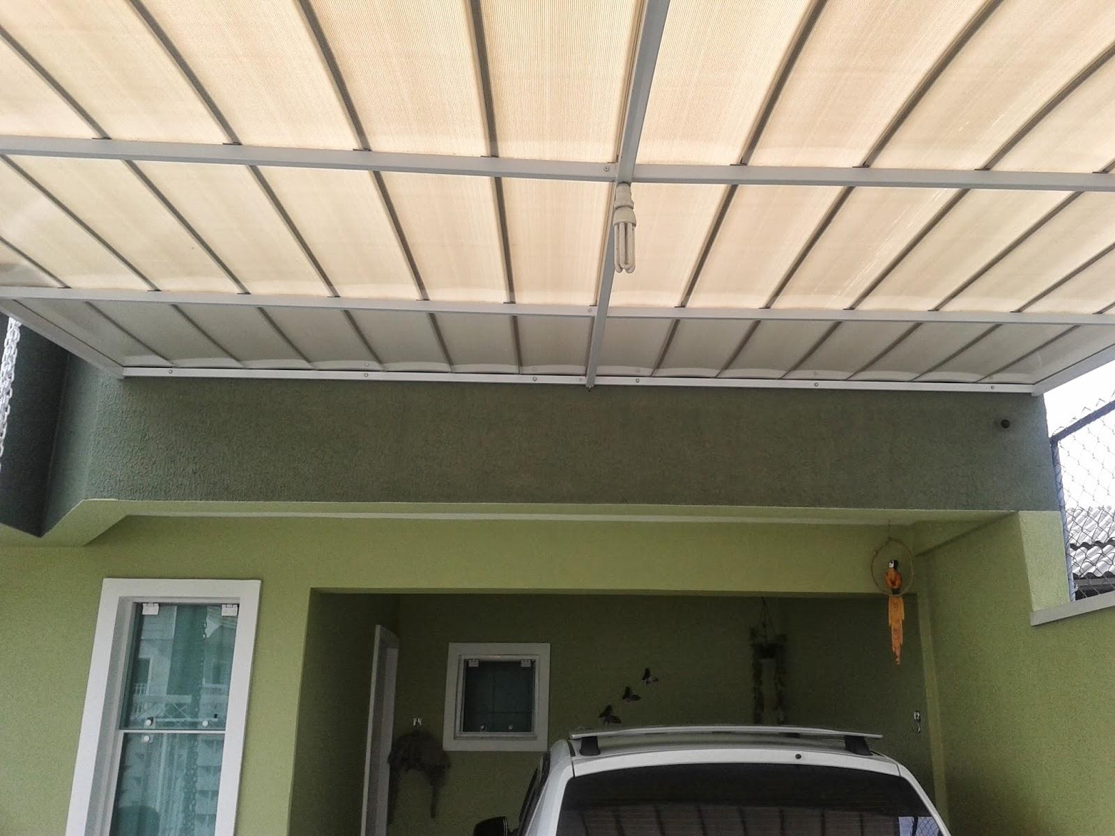 Muitas vezes Policarbonato - Polysolution: Cobertura de Garagem com  HW47