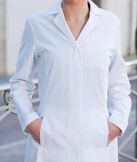 Ampliar imagen : Bata Sanitaria de Mujer con Cuello de Pico - MONZA