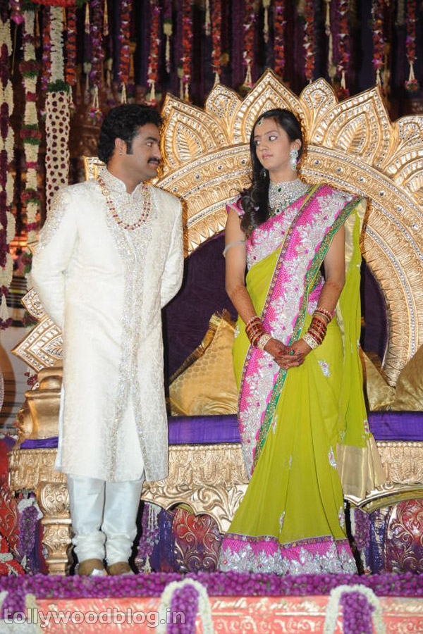 Jr NTR with his WIfe Lakshmi Pranathi