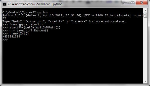 python using java