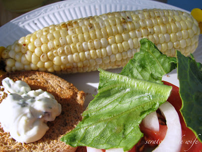 healthy grilled corn on the cob
