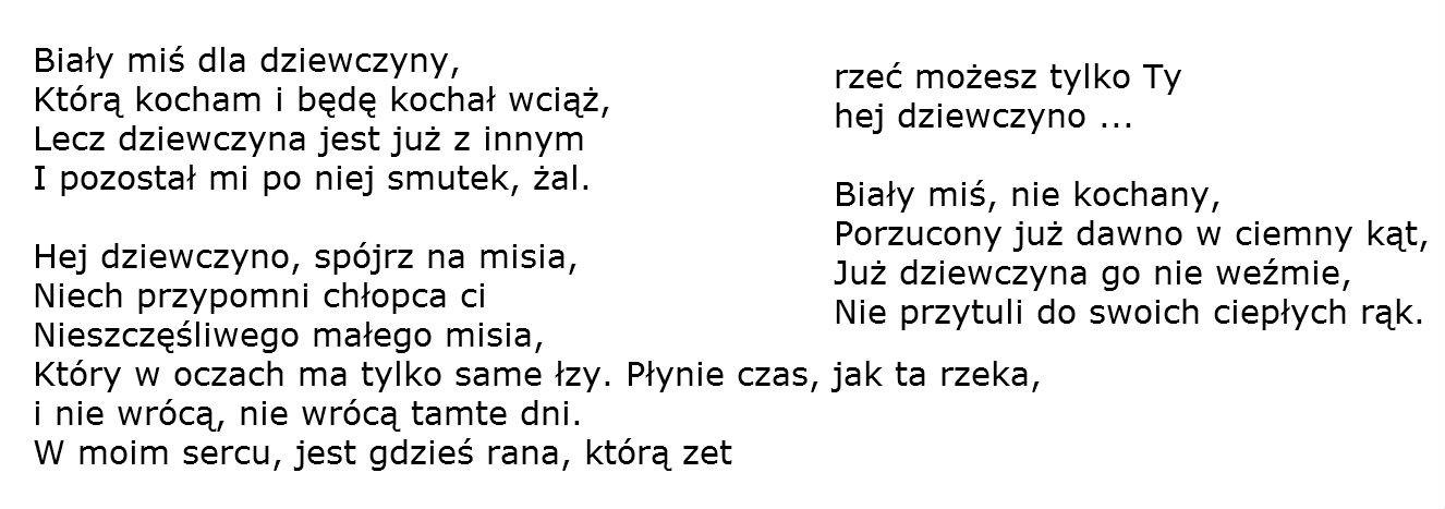 Polish Songs With Lyrics & Chords