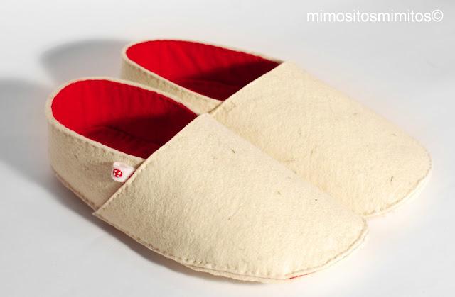 zapatillas personalizables únicas hecha a mano de fieltro