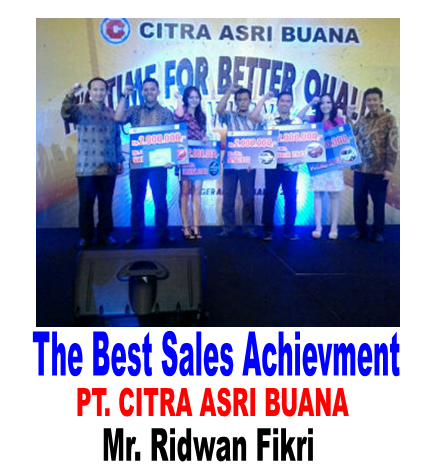 Penghargaan Sales Terbaik pt. citra asri buana 2014