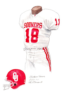 2003 University of Oklahoma Sooners football uniform original art for sale