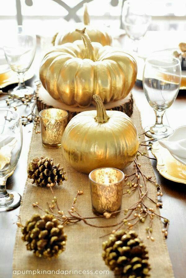 The Classy Woman ®: 15 Elegant Thanksgiving Table Decor Ideas