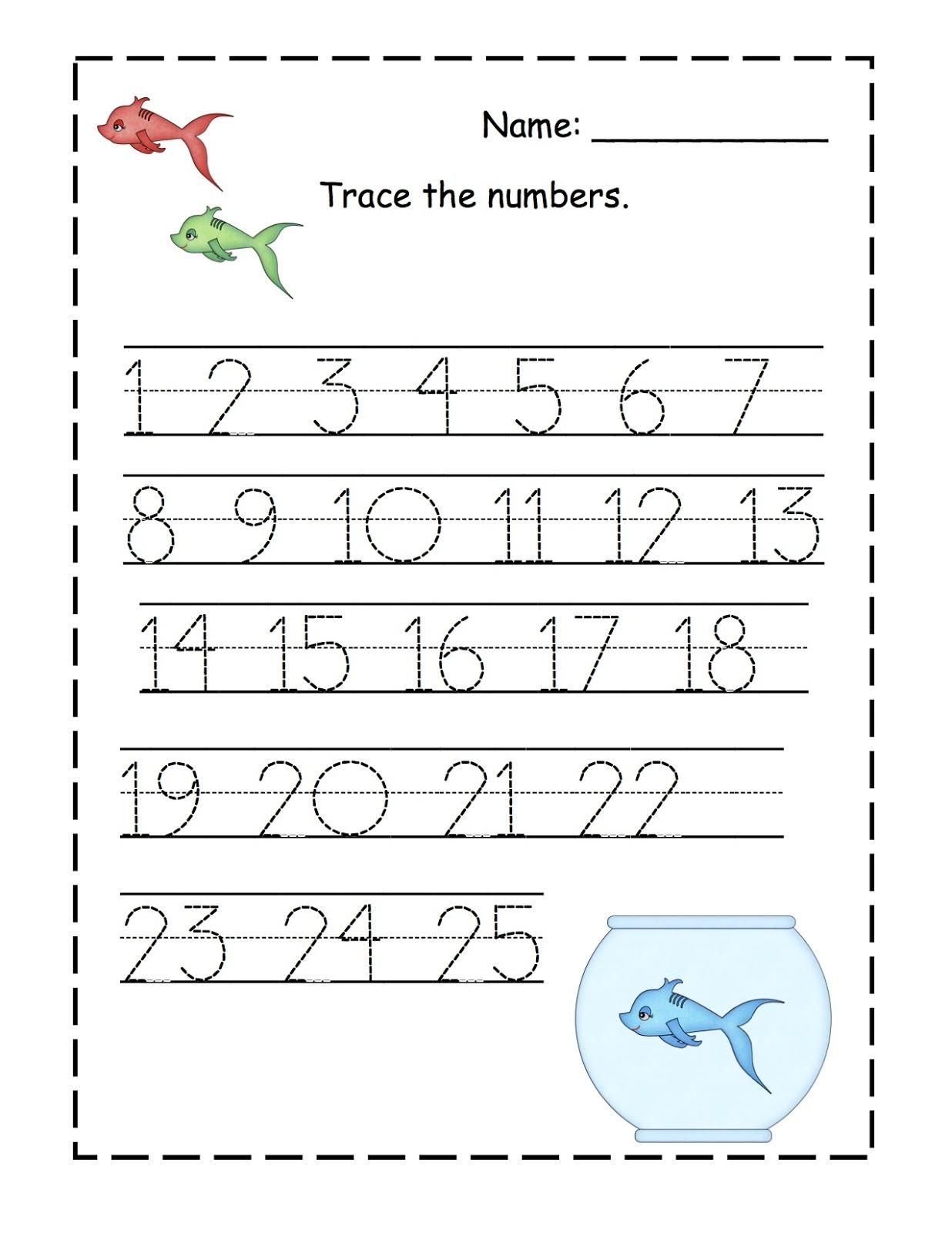 Tracing Numbers 1 20 Worksheets Printable Number Tracing 1 20