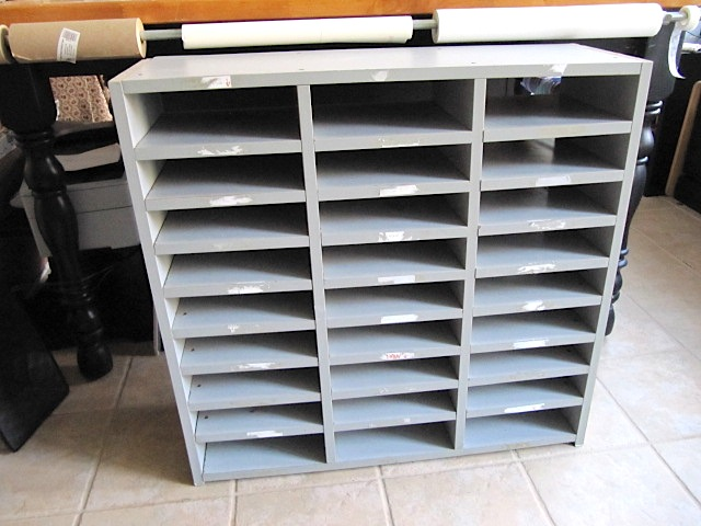 High Quality Sew Many Ways Recycled Furniture For Your Craft Room. 60 Slot Tierdrop Mail  Sorter 6w X 10h Ultimate Office