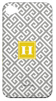 Greek Key Custom Personalized Phone Case with Initial