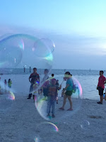 Playing kites and soap bubbles | Pantai Redang, Sekinchan